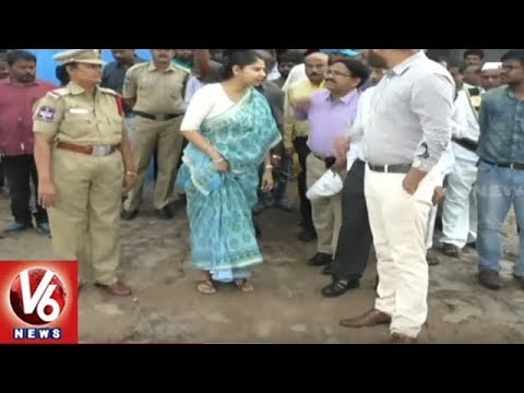 Mission Bhagiratha Special Officer Smitha Sabharwal Inspects Yellampalli Project | V6 News
