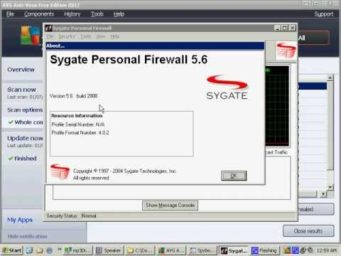 Sygate Personal Firewall 5.6 and rootkit false positives in AVG Anti-Virus Free Edition 2012