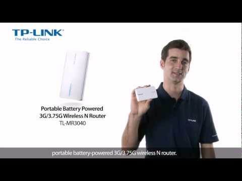 TP-LINK's Portable Battery Powered 3G/3.75G Wireless N Router TL-MR3040