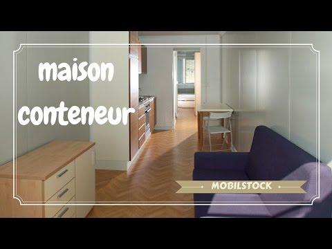la maison conteneur de la soci t mobilstock youtube. Black Bedroom Furniture Sets. Home Design Ideas