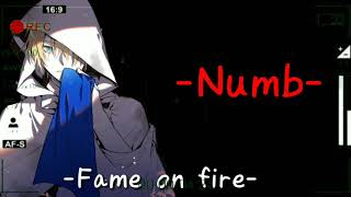 Fame on fire Numb(Linkin park)Cover | Lirik terjemahan Indonesia