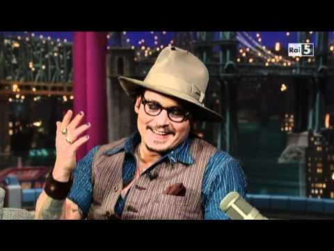 Johnny Depp al David Letterman Show