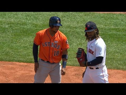 HOU@BOS: Hanley tries hidden ball trick without ball