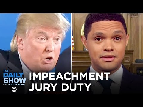 Trump Impeachment Trial Juror Orientation  The Daily Show