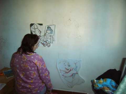 Pintando un mural en el cuarto de los ni os youtube - Habitacion para tres ninos ...