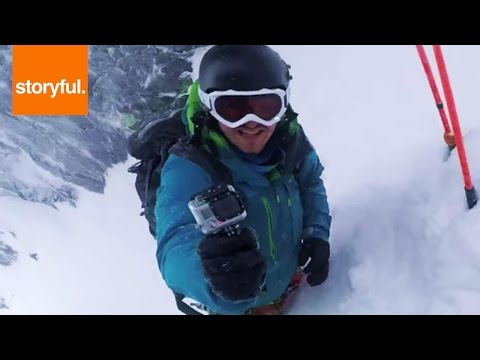 Skier Dives Down Norway's Most Dangerous Slopes (Storyful, Extreme Sports)
