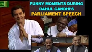 Rahul Gandhi Funny Moments during Lok Sabha Speech | MPs Laugh