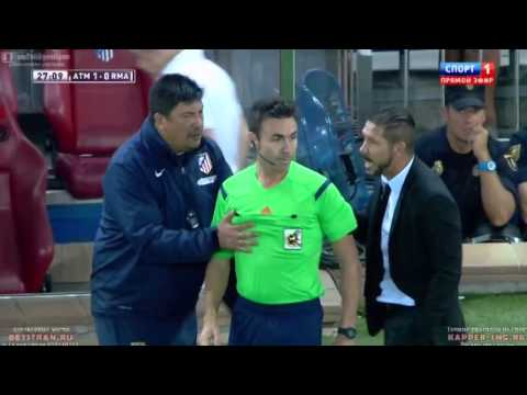 Diego Simeone Nervous Reaction     Atletico Madrid vs Real Madrid  22 08 2014  HD   YouTu