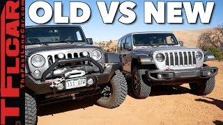 Old vs New: 2018 Jeep Wrangler JL vs Wrangler JK vs Moab's Hummer Hill!