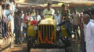 देसी जुगाड़ : Homemade Tractor । Made from Junk waste Parts