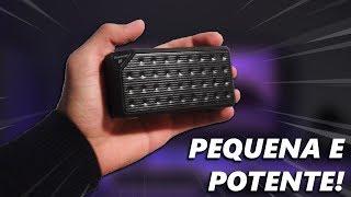 GRAVE FORTE! CAIXA DE SOM PEQUENA E POTENTE POR R$27 | Unboxing Cube X3