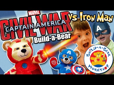 Captain America & Iron Man Civil War (TWINS) Build-a-Bear activity + FROZEN Yogart Frenzy