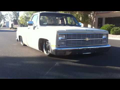 Air Bagged 1985 Chevy C10 Truck dragging on the body - Built by WCD Fabrication Music Videos