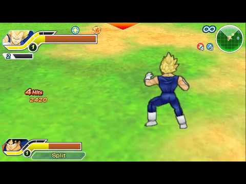 Dragonball Z Ttt -free Battle- (psp) - Vegeta goku Vs Cell Kid Buu - [fusion: Super Vegito] video