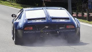 De Tomaso Mangusta Accelerations, Fly Bys & Sounds on Hillclimb!