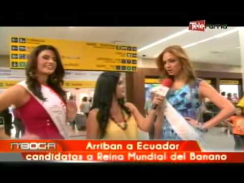 Arriban a Ecuador candidatas a Reina Mundial del Banano