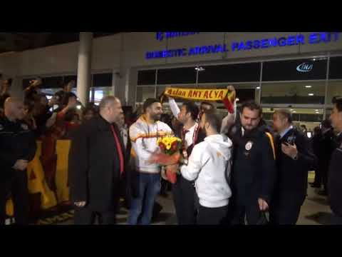 Antalya'da Galatasaray İzdihamı