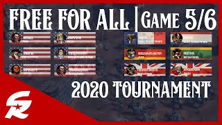 TWO Free For All Tourney Matches!!! | Game #5 & 6 - 2020 FFA | Age of Empires III