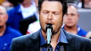 Blake Shelton Video - Miranda Lambert and Blake Shelton - America The Beautiful - Super Bowl 2012 (HD)