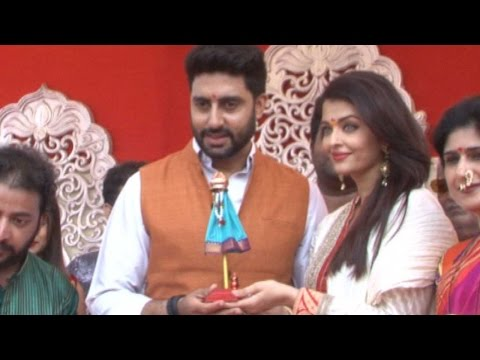 Aishwarya Rai Bachchan & Abhishek Bachchan's Gudi Padwa Celebrations