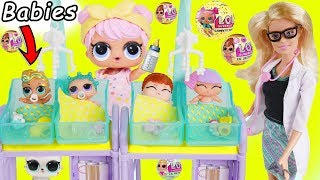 LOL Surprise Dolls Dress Up Fake Vs Real New Lil Sisters + Barbie LQL Colog Changing Wrong Series 3!