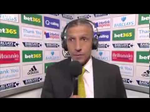 Chris Hughton  Post Match Interview Stoke City 0 1 Norwich 29 09 2013 HD