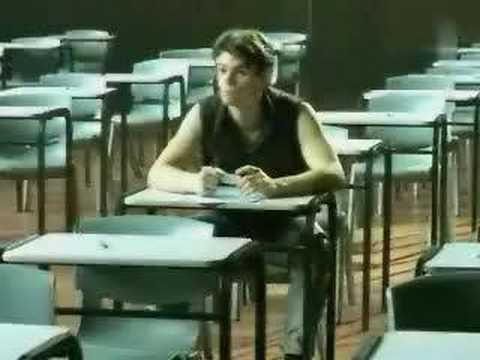 Funny student at exam hall