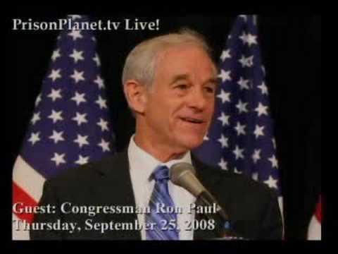 Ron Paul on Alex Jones Tv 9-25-08