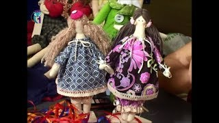 We sew textile doll style Tilda