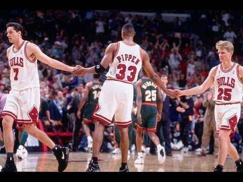 Bulls vs. Sonics - 1996 NBA Finals Game 6 (Bulls win 4th championship) - YouTube