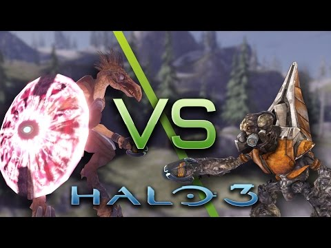 Halo 3: AI Battle: Jackals vs Grunts