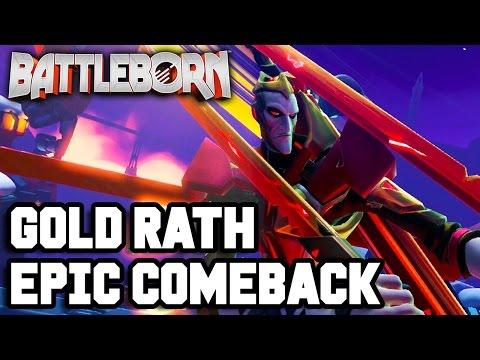 GOLD RATH EPIC COMEBACK!! Battleborn Gameplay - Multiplayer - Part  1 (PS4 1080p HD)