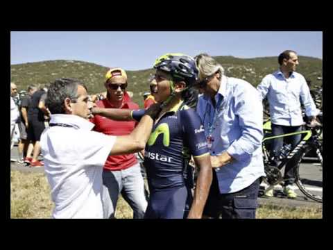 Nairo Quintana crashes out of Vuelta a España as Alberto Contador keeps red