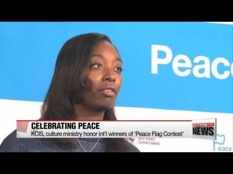 Korea honors international winners of 'Peace Flag Contest' '피스플래그 캠페인 국제공모전' 수상자들