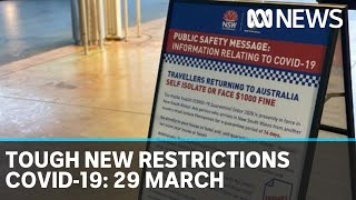 Coronavirus update: The latest COVID-19 news for Sunday 29 March | ABC News