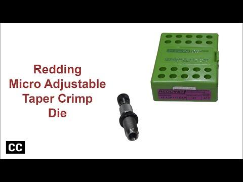 Redding Competition micro adjustable taper crimp die