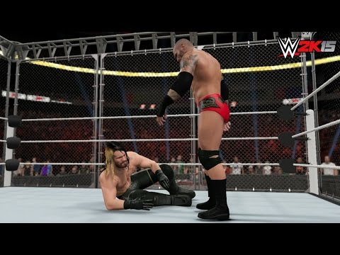 Wwe 2k15 Extreme Rules 2015 - Seth Rollins Vs Randy Orton - Steel Cage Match! (wwe World Title) video
