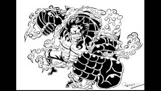 All Clip Of Luffy Gear 4 Drawing Bhclip Com