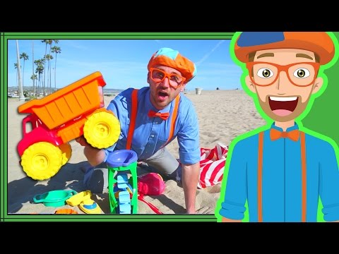 Blippi Videos for Kids | Playing with Sand Toys and More!  30 Mins