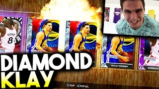 #GOAT ALERT! DIAMOND KLAY THOMPSON! FIRE SHOOTING STATS! NBA 2K16 MyTeam Pack Opening