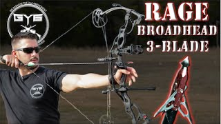 Compound Bow Broadhead - vs - MEAT & BONE -- RAGE Chisel Tip 3-Blade