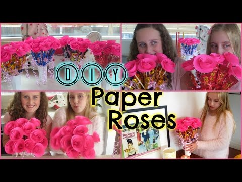 DIY Easy Paper Roses – Mothers Day,  Birthday Gift or Valentines Day