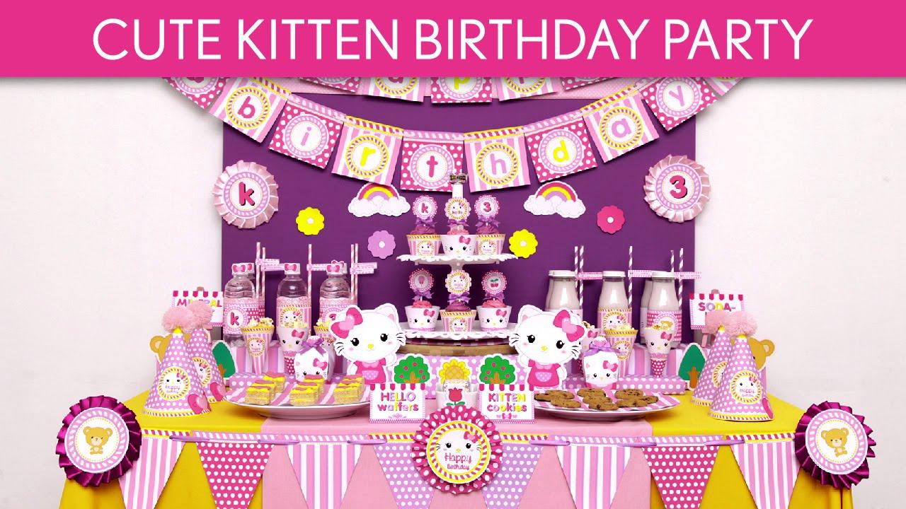 Kittens Birthday Party Cute Kitten Birthday Party
