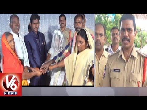 Jagtial District Dharmapuri Police Helps To Perform A Marriage Of Poor Girl | V6 News