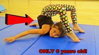6 YEAR OLD AVA TEACHES  NEW INSANE FLEXIBLE GYMNASTIC MOVES!! (PART 3!)