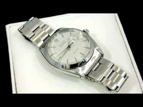 Rolex Oysterdate Precision, White Gold and Stainless Steel, Gents Watch - Vintage - AC Silver W6753