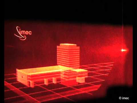 Lab-demo of imec's holographic chip.