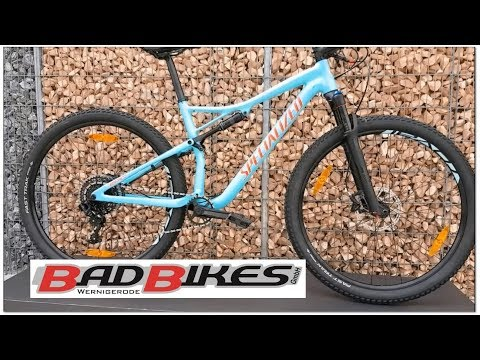 Specialized EPIC MEN COMP 29 2018 Mountainbike Gloss Light Blue/Rocket Red