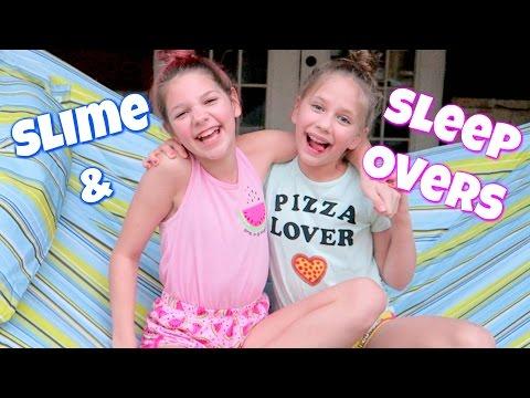 Slime Sleepover! Hope's vlogs thumbnail