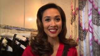 Myleene Klass models her lingerie range for Littlewoods.com